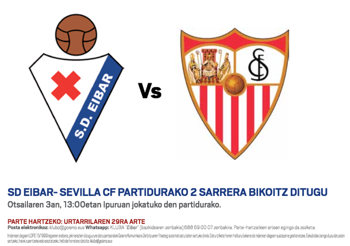 Eibar-Sevilla Goiena Klubean