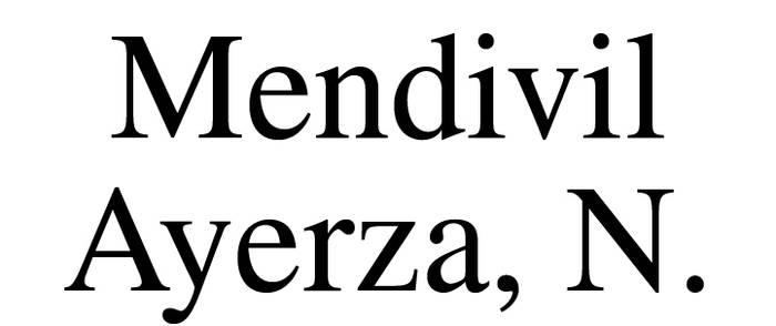 MENDIVIL AYERZA, N. abokatua logotipoa
