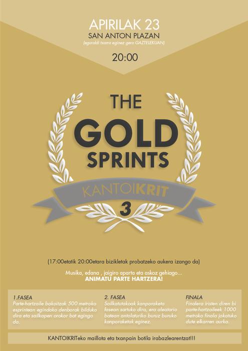 Gold Sprint probaren 3. edizioa, zapatuan