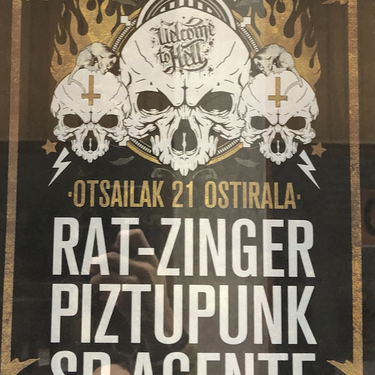 Rat-Zinger, Piztupunk eta Sr. Agente taldeen kontzertua