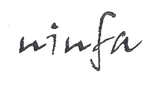 Ninfa jantzi denda logotipoa