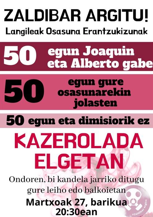 Martxoak 27, barikua, 50. protesta eguna!