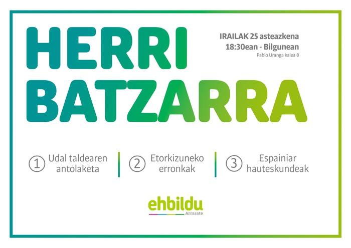 Irailaren 25ean Herri Batzarra