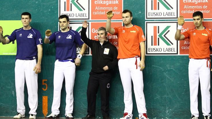 Rezusta eta Elezkano II.a bikoteak 14-22 irabazi die Aretxabaletari eta Urrutikoetxeari