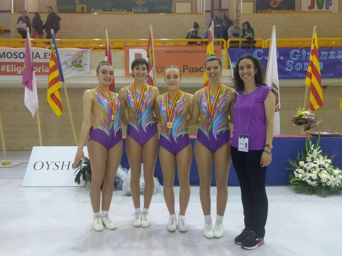 Lehenengo postua Dragoiko gimnastendako Espainiako Aerobic Txapelketan