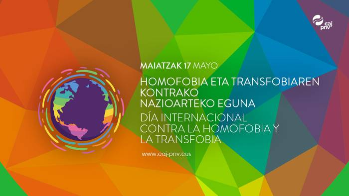 EAJ-PNVko EBBren adierazpena Homofobia eta Transfobiaren kontrako Nazioarteko Egunean