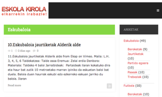 Euskarazko aplikazioak: Eskola Kirola