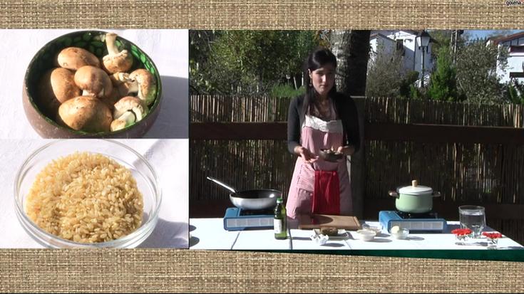 'Elikatu' errezeta: arroz risotoa seitana eta perretxikoekin