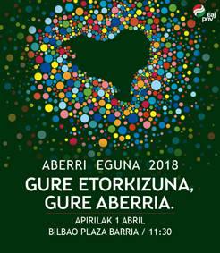 2018ko Aberri Eguneko ekitaldiak