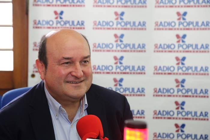 """Ortuzar: """"Zentzugabekeria galanta da EAJk ETAren ibilbide orriari jarraitzen diola esatea: Euskadiko PP urduri dago ezerezean geratzearen beldur"""""""