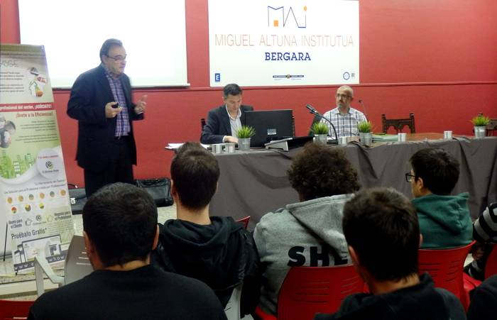APROBASGE Kudeatzaile Energetikoen Euskal Elkarte Profesionalaren aurkezpena Miguel Altuna Institutuan