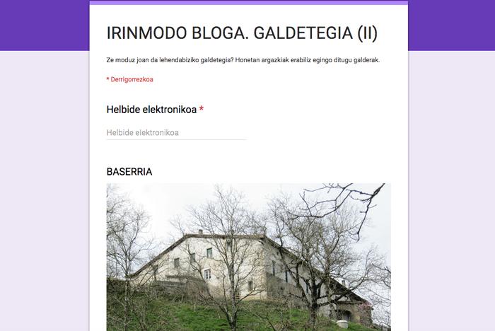 Ion Lizarazu da 'Irinmodo' blogeko zozketako lehen irabazlea
