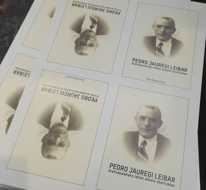 Pedro Jauregi Leibar gogora ekartzeko liburua aurkeztuko dute bihar