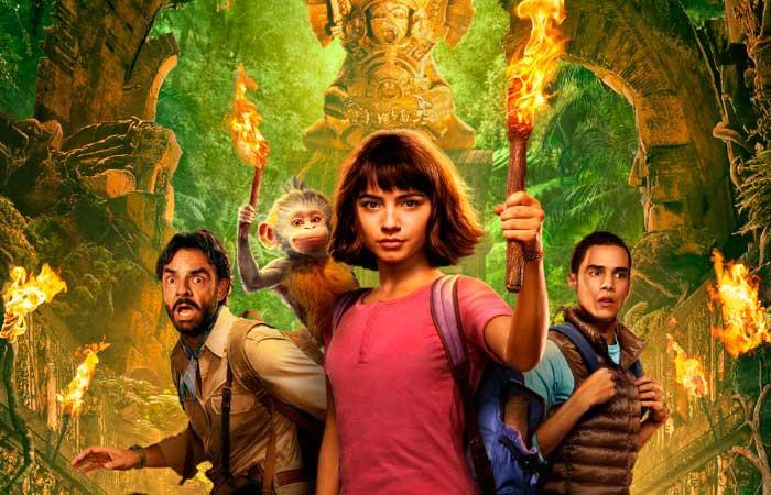 'Dora y la ciudad perdida' filma, gaztetxoendako