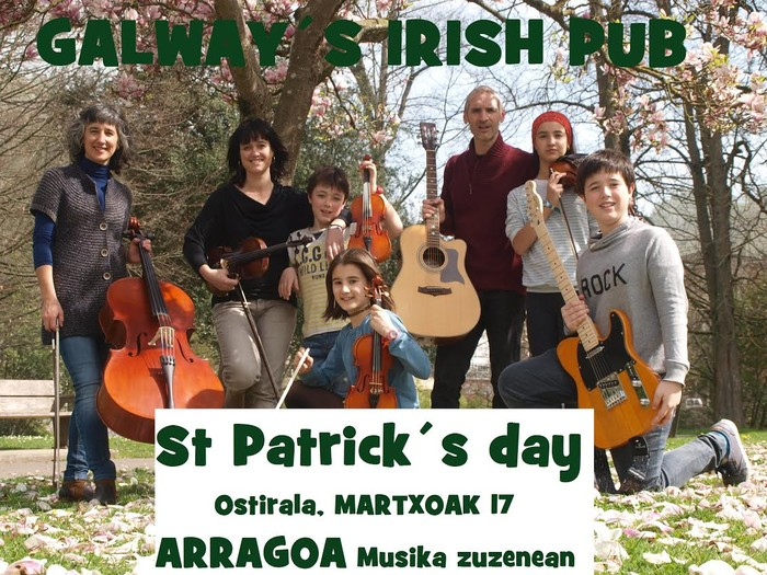 Arragoa bergararren kontzertua 'Saint Patrick's day' giroan