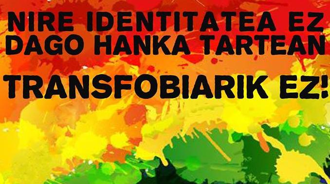 Transexualitatea biharko mani-festa-akzioan protagonista Bergaran