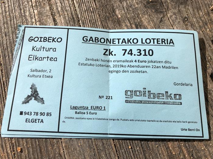 Goibekok urtarrilaren 2an, 3an, 4an egingo ditu Gabonetako loteriari egokitutako itzulketak