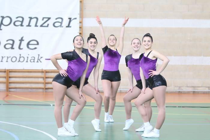 Arrasate Dragoi Taldeko gimnastak Espainiako Aerobik Txapelketara