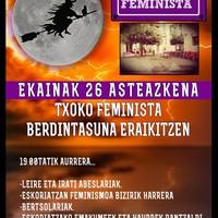 Txoko feminista berdintasuna eraikitzen