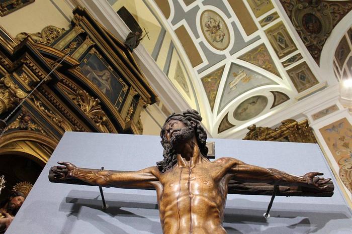 Bergarako Santo Kristo Hilzorikoa ikusgai dago Sevillan  - 3