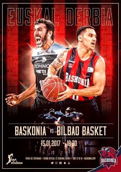 Baskonia-Bilbao Basket derbirako 4 sarrera bikoitz ditugu!
