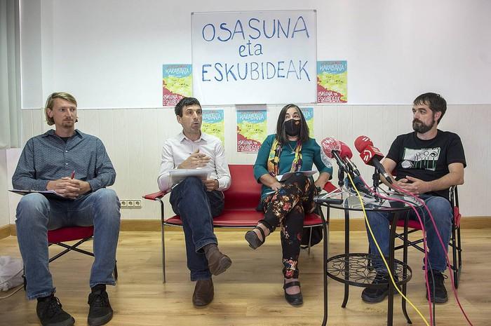 Osasunaren eta eskubideen aldeko auto-karabana, hiriburuetatik Arantzazura