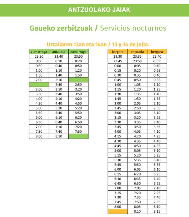 Jaietarako autobus zerbitzua indartu du Lurraldebusek