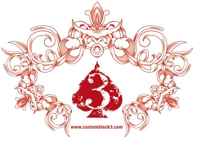 Black3 bordados logotipoa
