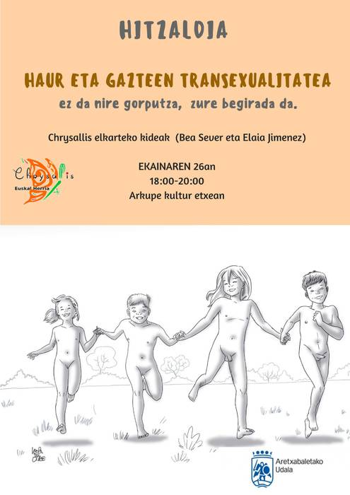 Hitzaldia: 'Haur eta gazteen transexualitatea'