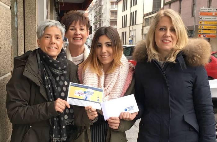 1.560 euroko bonua Laura Cid Aldamarentzat
