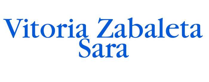 Vitoria Zabaleta Sara logotipoa