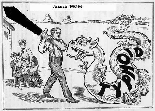 Arrasate, sukar tifoidearen biktima 1903an