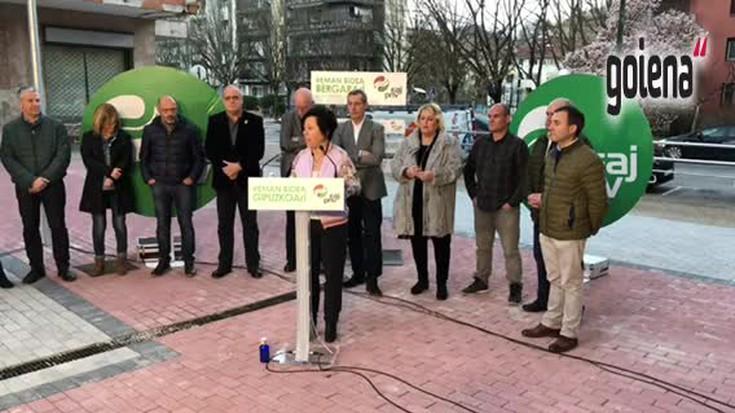 """Elena Lete, Bergarako alkatetzarako hautagaitzaren aurkezpenean: """"Kudeaketa irmo eta garbia egin dugu"""""""
