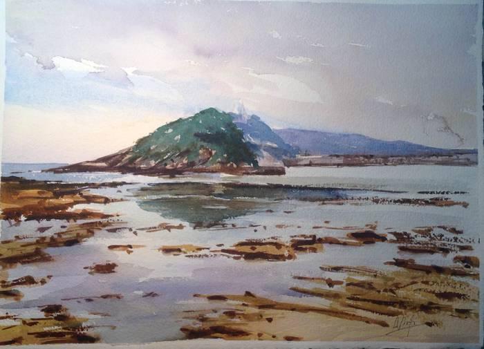 Hilaren 30era arte ikusgai dago Donostian Arantzazu Arregiren akuarela erakusketa