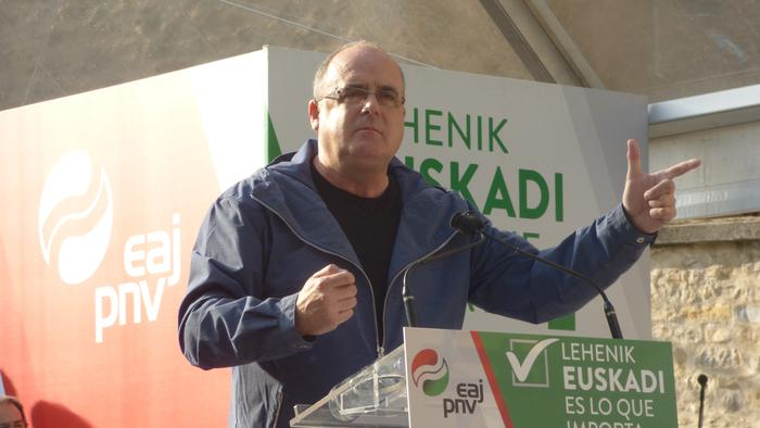 """Joseba Egibar: """"EAJ-PNV da Euskadik aurrera jarraitzeko bermea"""""""