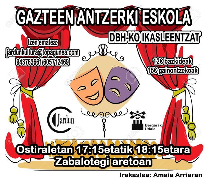 Gazteentzako antzerki eskola jarri nahi dute martxan Bergaran