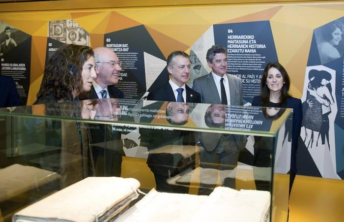 Euskadiko Artxibo Historikoa inauguratu dute Bilbon