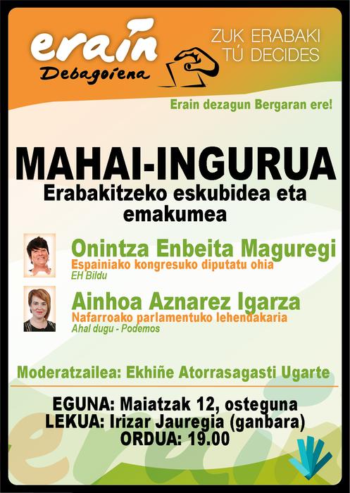 Onintza Enbeita eta Ainhoa Aznarez, eguenean Bergaran, Erainek antolatuta