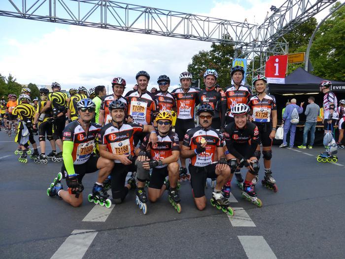Hanka Labanka taldeko kideak Berlingo maratoian