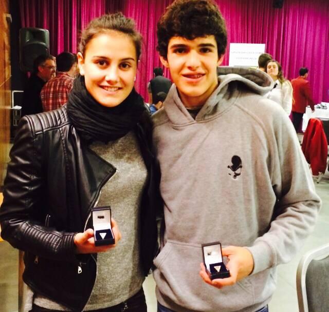 Malen Ruiz de Azua eta Eneko Carrascal atletak saritu dituzte