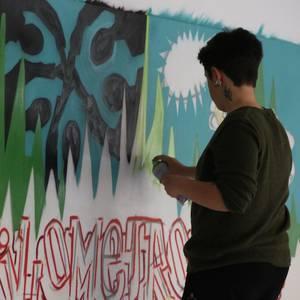 Kilometroak 2017 jaiak badauka bere graffitia