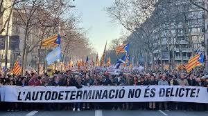Autodeterminazio eskubidearen aldeko manifestazioan izan gara Madrilen