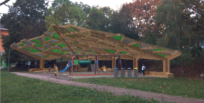 'Zuhaitzak' izan da proiektu aukeratua Arrasateko Gorostizako parkea estaltzeko
