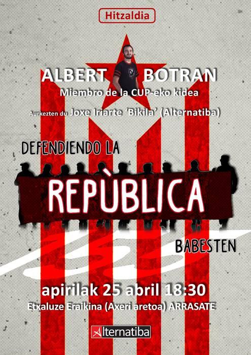Katalunia hizpide Albert Botran CUPeko kidearekin