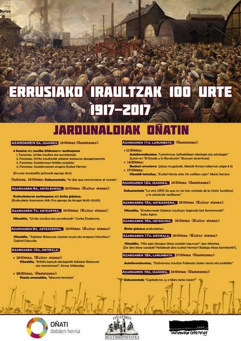 Errusiako iraultzaren 100. urteurrena jardunaldiak
