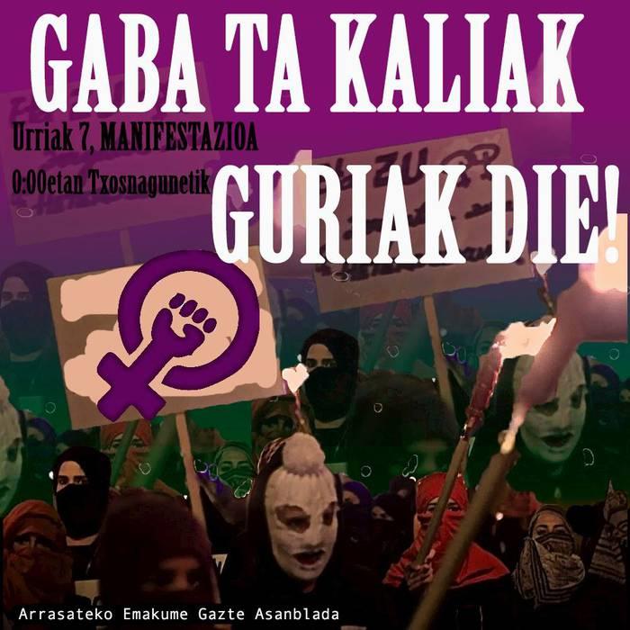 Manifestazio feminista Maritxu Kajoi egunean