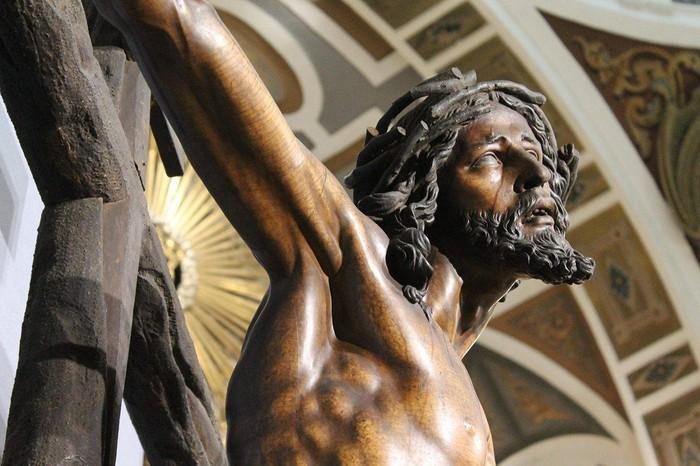 Bergarako Santo Kristo Hilzorikoa ikusgai dago Sevillan  - 7
