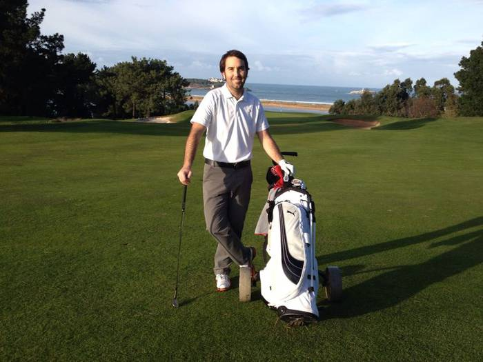 """Mikel Galdos: """"Denboraldia hasteko izugarrizko gogoz nago jada; bitartean, golf eskolak ematen ditut"""""""