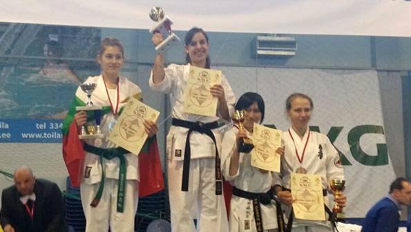 Laida Ramos Europako txapeldun izan da Estonian jokatutako Kyokushin karate txapelketan