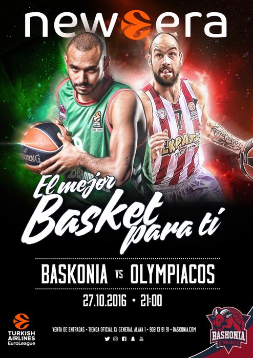 Baskonia-Olympiacos partidurako sarrerak ditugu!